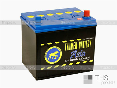 Аккумулятор TYUMEN Battery ASIA  60Ah EN520 о.п. (231х173х223) J+