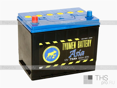 Аккумулятор TYUMEN Battery ASIA  75Ah EN600 п.п. (266х172х220) J+