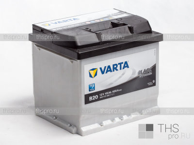Аккумулятор Varta Black Dynamic 45Ah EN400 п.п.(207х175х190) (B20)